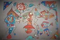 Rund, Blüte, Abstrakt, Gesicht