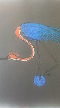 Bunt, Vogel, Abstrakt, Malerei