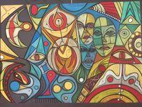 Bunt, Fantasie, Augen, Kopf
