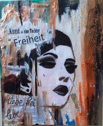 Freiheit, Malerei, Acrylmalerei, Frau