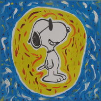 Snoopy, Sonne, Malerei