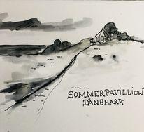 Tuschmalerei, Edding, Dänemark, Sketching