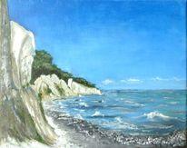 Welle, Rügen, Meer, Malerei
