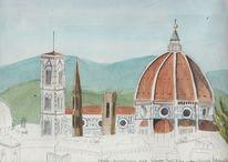 Aquarellmalerei, Plain air, Florenz, Aquarell