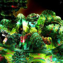 Digital, 3d, Fraktalkunst, Mandelbulb