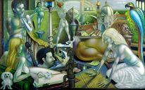 Phantastische malerei, Figurative malerei, Fantasie, Malerei