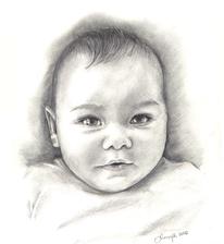 Baby, Kind, Zeichnung, Gesicht