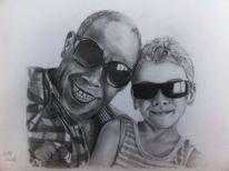 Liebe, Großvater, Gesicht, Enkel