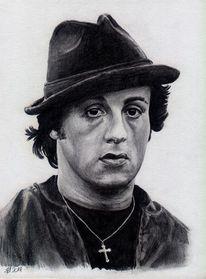 Balboa, Stalone, Bleistiftzeichnung, Rocky