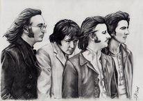 Musik, Band, Beatles, Zeichnungen
