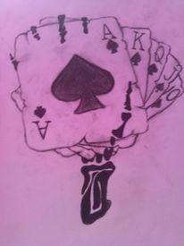 Zeichnungen, Tattoo, Spiel, Leben