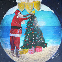 Warm, Kugel, Blau, Weihnachten