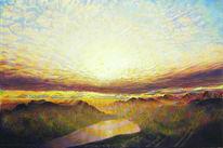 Weite, Naturmalerei, Berge, Spektralfarbe