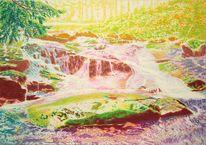 Sonne, Flusslandschaft, Landschaft, Baum
