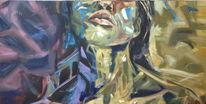 Inspiration, Expressionismus, Frau, Portrait