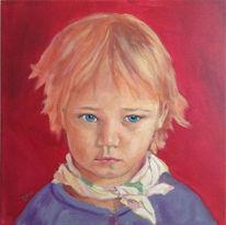 Portrait, Mädchen, Figural, Ölmalerei