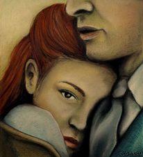 Paar, Schutz, Anzug, Rote haare