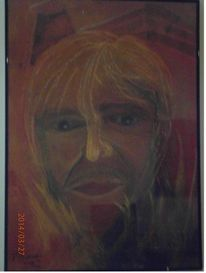 Malerei, Kreide, Portrait