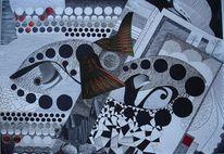 Surreal, Rote flügel, Fantasie, Vogel