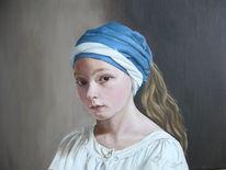 Portrait, Naturalismus, Klassische malerei, Malerei