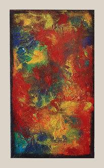 Acryl painting, Acrylmalerei, Wohnung, Mineralienbruch
