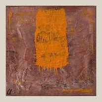 Mineral, Collage, Moderne acrylbilder, Geschenk