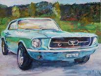 Auto, Mustang, Ford, Klassiker