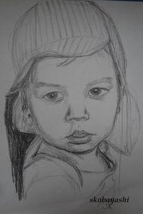 Kleinkind, Portrait, Zeichnung, Zeichnungen