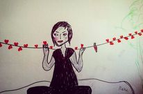 Malerei, Frau, Leben, Zeichnungen