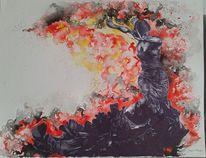Schwarz, Zeichnung, Aquarellmalerei, Flamenca