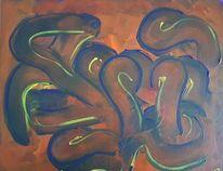 Orange, Malerei, Abstrakt