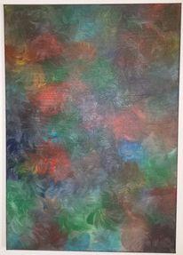 Rot schwarz, Grün, Blau, Ölmalerei