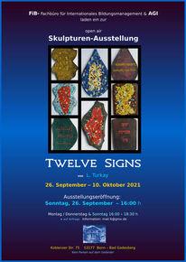 Plakat für ausstellung, Abstrakt, Bonn, Pinnwand