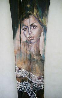 Engel, Frau, Ölmalerei, Figural