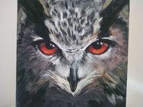 Malerei, Acrylmalerei, Abstrakt, Eule