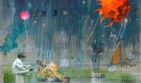 Aquarellmalerei, Fotografie, Landschaft, Zeichnung