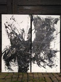Aggressiv, Depression, Düster, Malerei