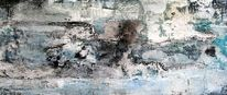 Sand, Acrylmalerei, Marmormehl, Collage