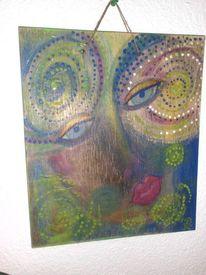 Holz, Acrylmalerei, Pastellmalerei, Klug