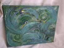 Gemälde, Farben, Natur, Kraft