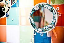 Mosaik bad spiegel, Kunsthandwerk, Morgen, Spiegel
