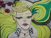 Reiz, Weiblichkeit, Träumereien, Malerei