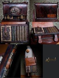 Steampunk, Uhrwerk, Bibliothek, Kleidung