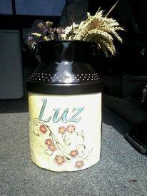 Kanne, Milchkanne, Punkt, Blumen