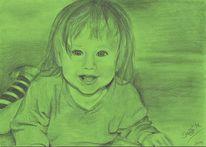 Kind, Mädchen, Zeichnungen,