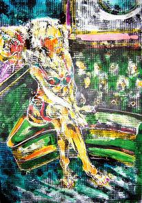 Dame, Ölmalerei, Leinen, Goldmedaille