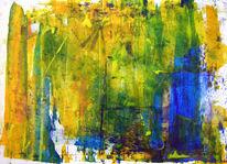 Farben, Grün, Frau, Spiegelung