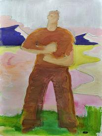 Zeitgenössisch, Mann, Malerei, Menschen