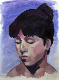 Klassisch, Ölmalerei, Studie, Kopf