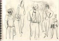 Skizzenbuch, Zeichnungen, 2014